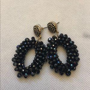 BaubleBar navy Eve earrings